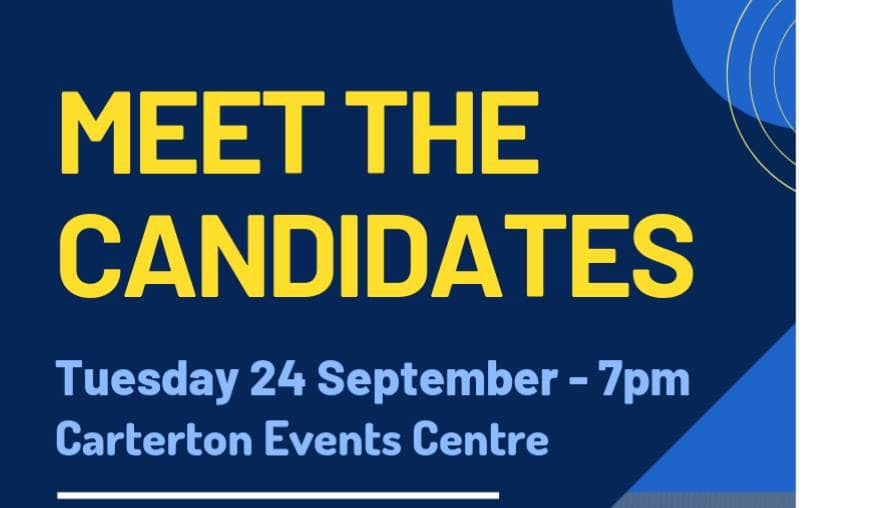 Meet the Candidates – Tuesday 24 September – 7pm