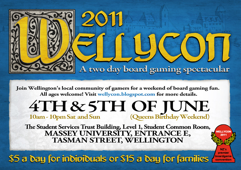 Wellycon 2011 – 4th & 5th of June