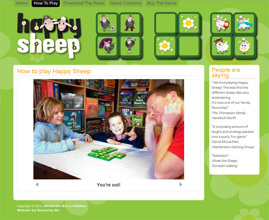 Happy Sheep website