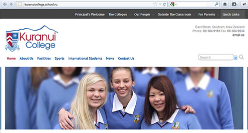 Kuranui College website