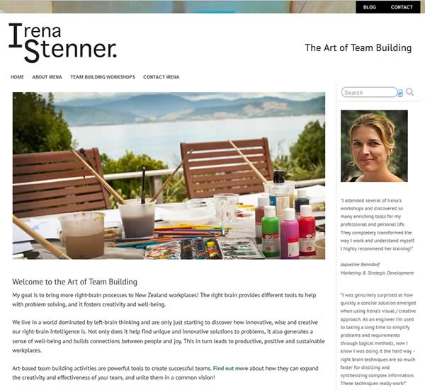 Irena Stenner Website - The Art of Team Building
