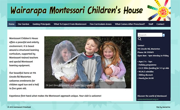 Wairarapa Montessori website