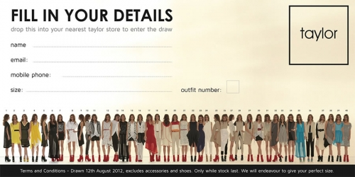 Taylor Summer 2012 Shadow Collection Competition