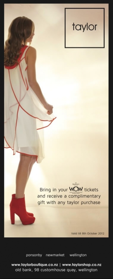 Taylor Summer 2012 - Shadow Collection - Wow Tickets