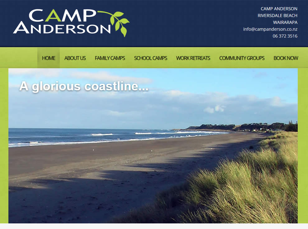 Camp Anderson : Website