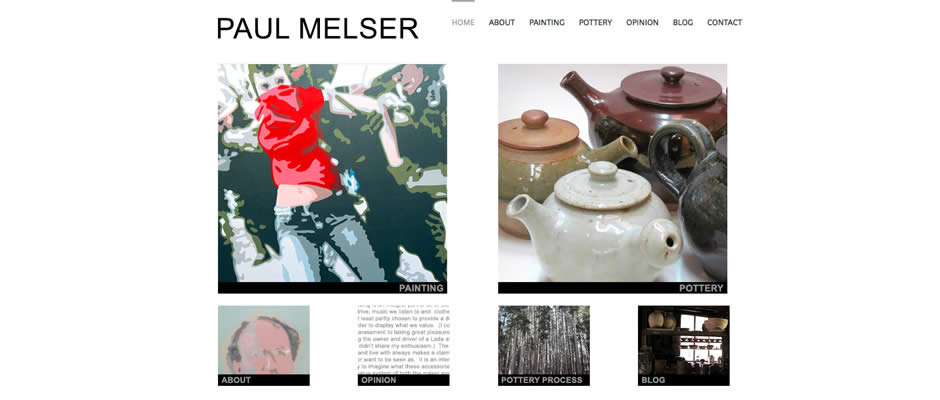 Paul Melser : Website