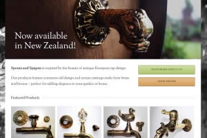 Spouts And Spigots Home Page - website By Nectarine