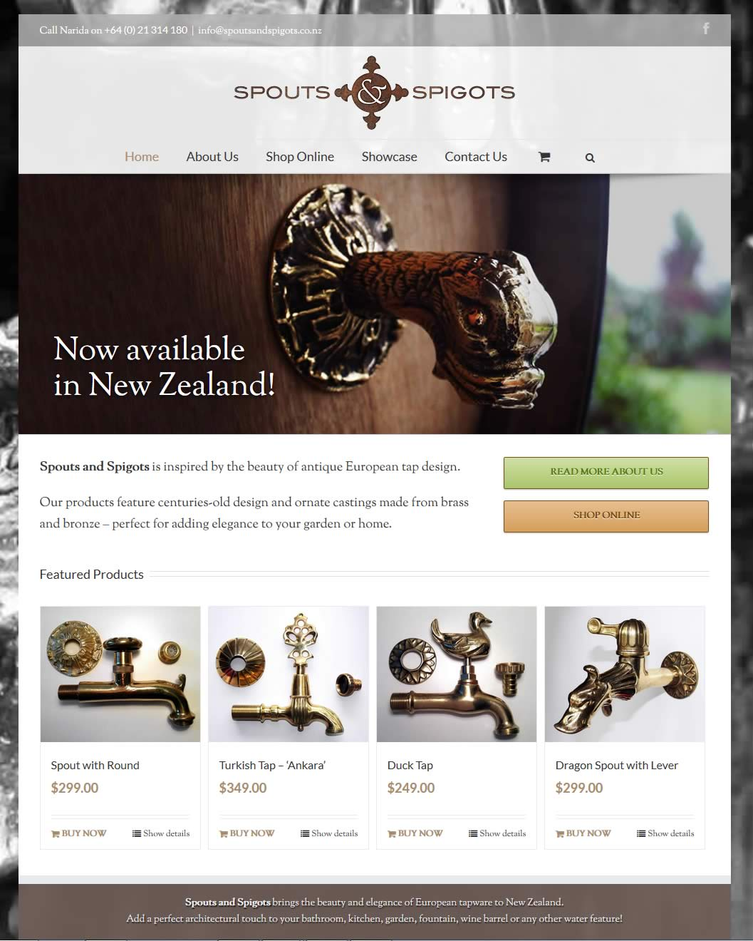 Spouts and Spigots website