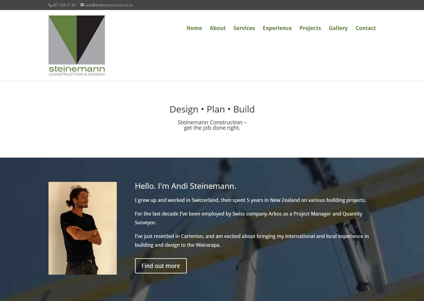 Andi Steinemann Construction Nectarine Website Portfolio Home