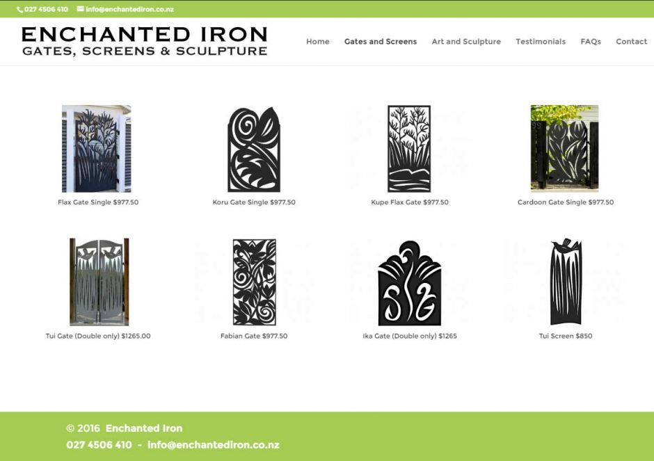 Enchanted Iron Gates Screens Catalogue