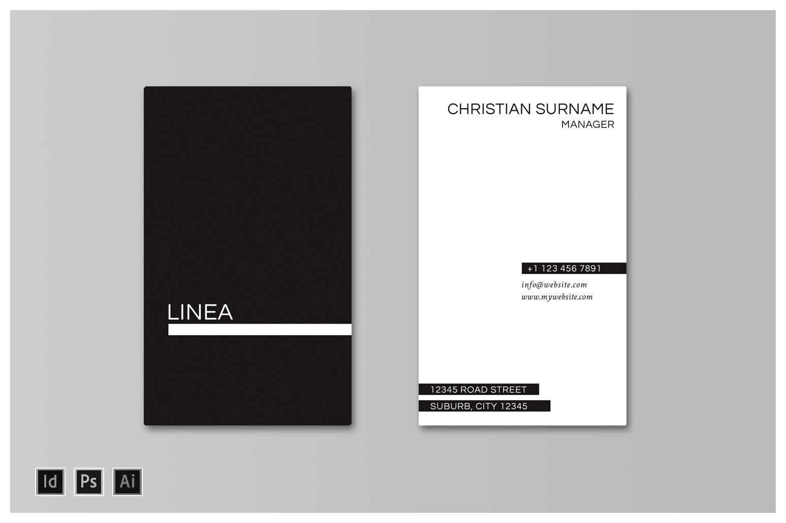 Linea Business Card Template