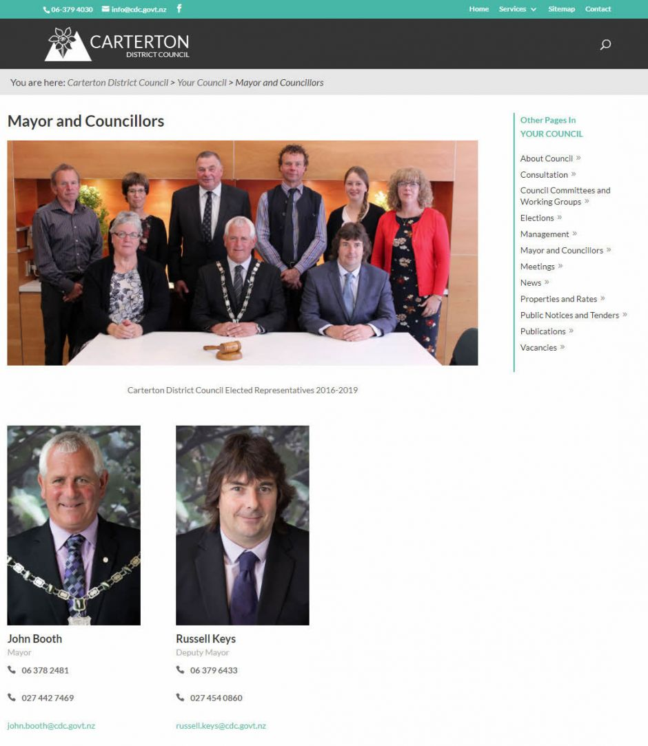 Carterton District Council Mayors Nectarine Website Portfolio