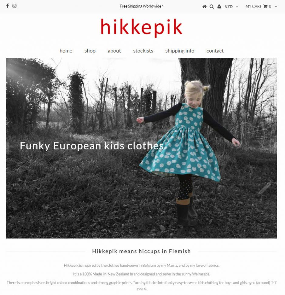 Hikkepik Clothing Home Nectarine Website Portfolio