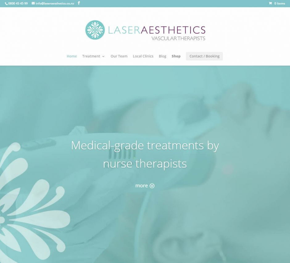 Laser Aesthetics Home Nectarine Website Portfolio