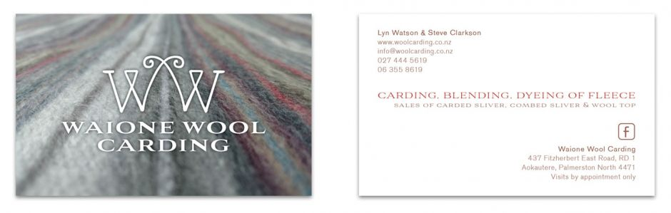 Waione Wool Carding Business Card
