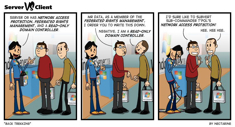 Microsoft Server 08 webcomic series by Nectarine