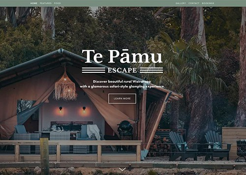 Te Pāmu Escape : Website